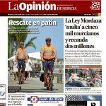 Patinetes Eléctricos para Protección Civil, somos portada en La Opinión de Murcia