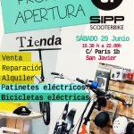 Apertura !!! Nueva tienda SIPP Scooterbike