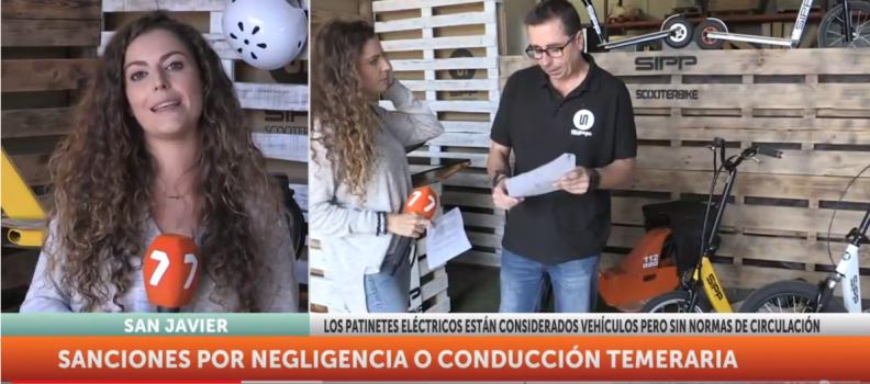 Entrevista de la TV de Murcia a SIPP Scooter Bike.