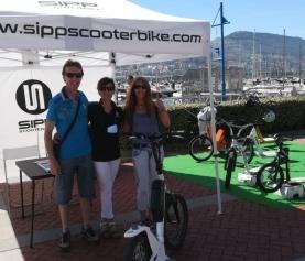Feria de vehículos sostenibles en Getxo (Vizcaya)